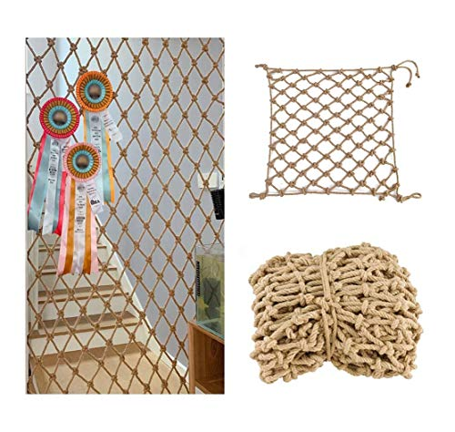 Buy Retro Linen Net, Children's Stair Safety Netting, Balcony Fence Net Climbing Protection Net Fall...