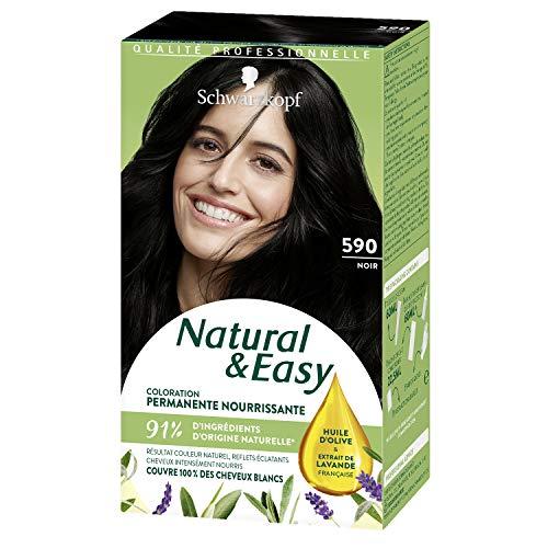 SCHWARZKOPF - Natural & Easy - Coloration Permanente Naturelle Cheveux - Noir 590