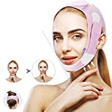 LHYLZY Double Chin Reducer Chin Strap, Reusable Face Slimmer V Line Lifting Mask For Women, Eliminates Snore Sagging Skin Firming Slimable Thin Up Facial Jawline Breathable Slimming Shaped Strap