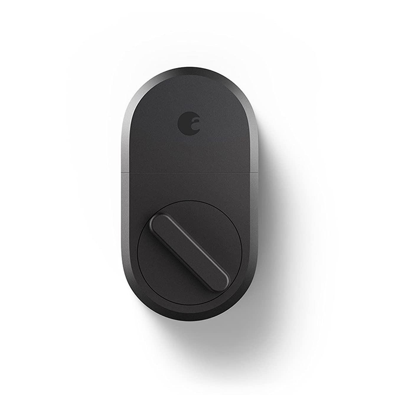 August Smart Lock, 3rd Gen technology - Dark Gray, Works with Alexa (ASL-3B)