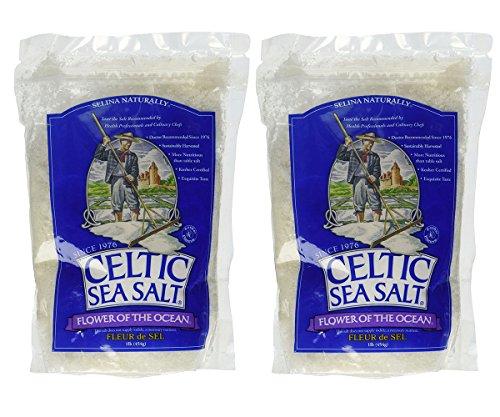 Celtic Sea Salt Flower of The Ocean Salt Bag, 1 Pound (Pack of 2)