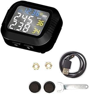 mewmewcat Monitor de pressão de pneus de motocicleta Mountain bike sem fio instrumento de monitoramento de pressão de pneu...