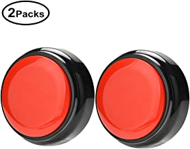 Cover Recordable 30 Seconds Surprise Message Seconds Talking Button Record Answer Buzzers Set of 2 (Red-Black)