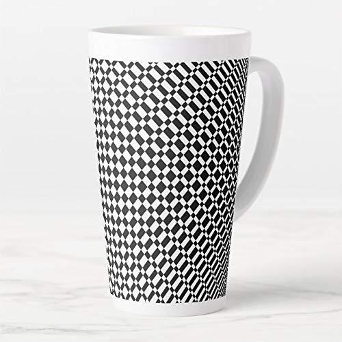 483 ml Latte Kaffeebecher, Mirage Jet Black On Transparent Latte Tasse, Kaffeetasse, Teetasse, lustige Tee- oder Kaffeetasse