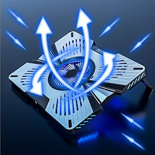 Base Portatil Base Refrigeradora Laptop RGB LED de refrigeración del borde del cojín Con Portátil con 5 Quiet aficionados LED azul indicador de 12 a 17,3 pulgadas USB del ordenador portátil del ventil