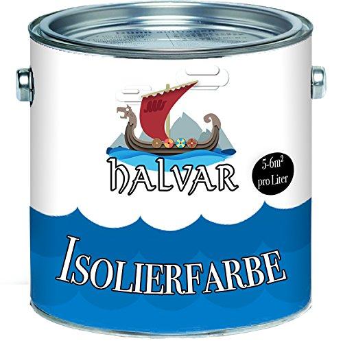 Halvar Isolierfarbe skandinavische Nikotinsperre in weiß Wandfarbe hochdeckend und geruchsarm (5 L)