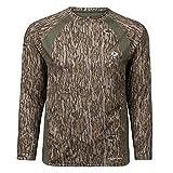 Mossy Oak Men's Standard Lightweight Camo Shirts Hunting, Bottomland, Large