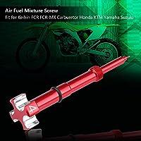 ミキサースクリュー、軽燃料混合用の良好なスクリュー、取り付けが簡単なスプリング付きのFCR-MX用のケーヒンFCR用パイロットスクリュー(red)
