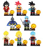 PHY Dragon Ball Z Figuras de Acción Son Goku Trunks Gotenks Broli Burdock Majin Buu 8PCS Modelo de A...