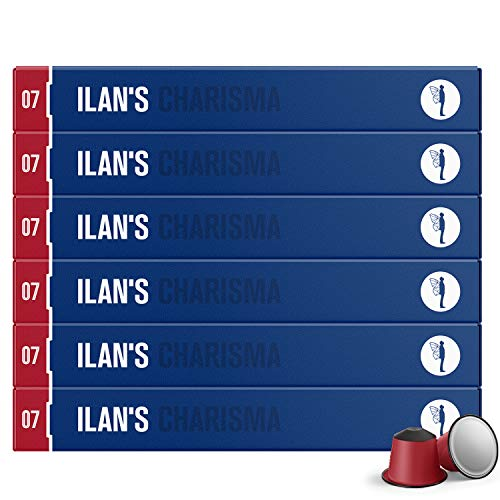 ILAN'S Coffee Capsules - 60 Count Single Cup Servings of Nespresso Compatible Capsules - Medium Roast Gourmet Espresso Coffee Pods for True Coffee Lovers. Fair Trade. Kosher