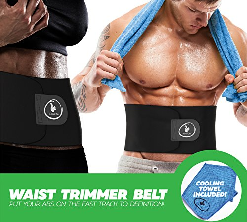 Waist Trainer Trimmer for Weight Loss for Women and Men, Best Abdominal Sweat Belt, Low Back and Lumbar Support Adjustable Shaper with Sauna Effect, Good for Postpartum Belly Firmness (Medium)