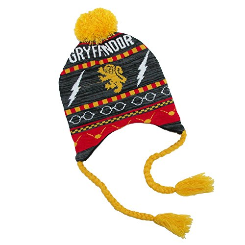 Harry Potter Ski Beanie Gryffindor Fairisle Laplander Bioworld Berretti Cappelli