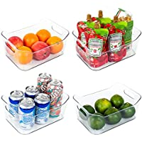 4 Pack Vtopmart Refrigerator Food Organizer with Handle