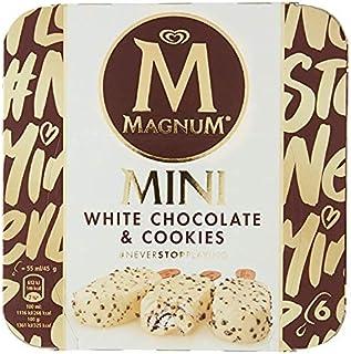 Magnum Mini White Chocolate & Cookies Multipack Ice Cream, 6 Count (Pack of 6) - Frozen