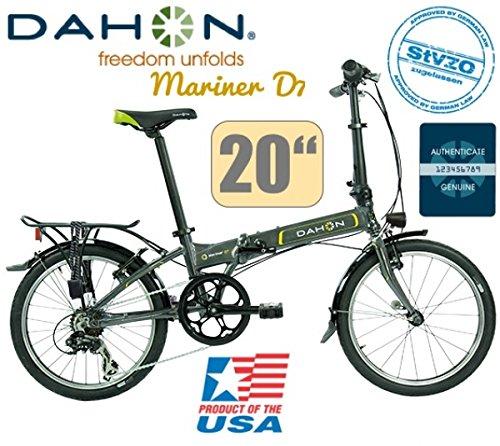 DAHON MARINER D7 Uni 7-Gang graphite/20Zoll/LED/DeluxeSet-Licht