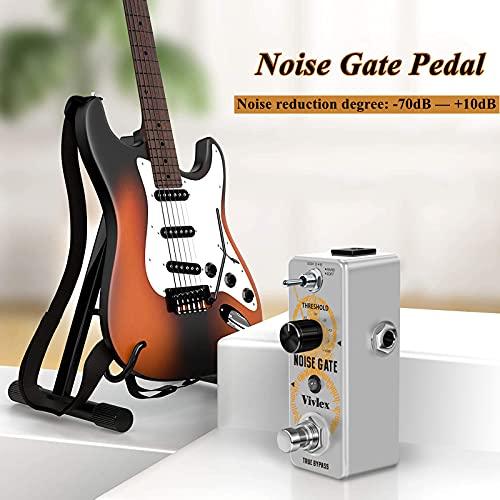Vivlex LEF-319 Noise Gate Noise Gate Suressor - Pedal para guitarra eléctrica bajo con True Bypass