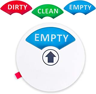 """Dishwasher Magnet (1pc) - Clean, Dirty or Empty Sign - Non-Scratch 3.5"""" Magnetic Sign - Includes Double Sided 3M Tape for Non-Magnetic Surfaces (Round Dishwasher Magnet (White))"""