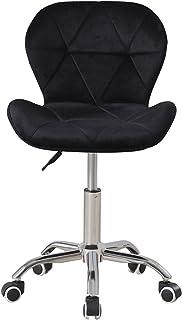 radelldar Zwart Bureaustoel Fluweel Kantoorstoel met Wielen Computer Stoelen 360° Draaibare Stoel Home Office Study Room M...