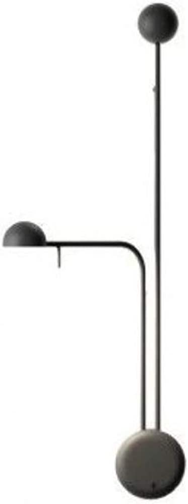 Vibia,lampada da parete orientamento sinistro,2 led 4, 48 w 350 ma, con diffusore in policarbonato, serie pin 168562/10