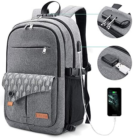 Lekesky Laptop Backpack for Women Anti theft Laptop Travel Backpack 15 6 Inch with USB Charging product image