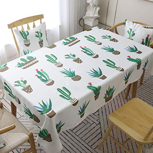 lulalula Nappe carrée imprimée cactus en polyester et coton 90 x 90 cm