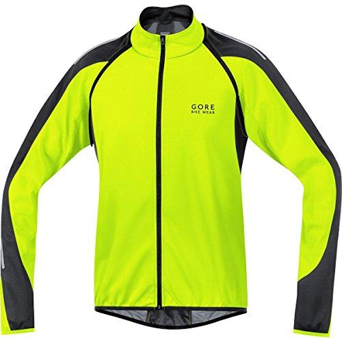 Gore Bike Wear Phantom 2.0 Windstopper Soft Shell - Chaqueta 3 en 1 para Ciclista de Carretera, Hombre, Amarillo Neón/Negro, S