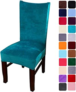 smiry Velvet Stretch Dining Room Chair Covers Soft Removable Dining Chair Slipcovers Set..