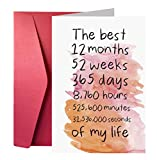 First Year Anniversary Card, One Year Anniversary Card for Him or Her, Thoughtful Anniversary Card
