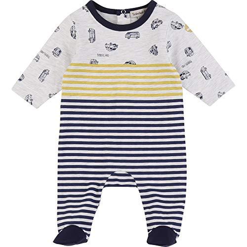 Timberland Pyjama aus Baumwoll-Jersey, bedruckt, Bebe-Windel Gr. 62, Hellgrau meliert