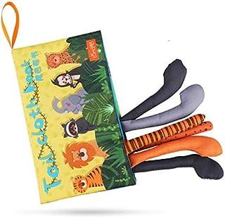 كتاب قماش للأطفال لعبة تعليمية للأطفال بتصميم كتاب لصور الحيوانات وحشوة داخلية بصوت خشخيشات