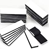 32Pcs Heavy Duty Hook and Loop Strips with Adhesive Industrial Strength Adhesive Black Straps Double-Sided Reusable Hook Loop Tape Sticky Fastener Waterproof Indoor Outdoor Use 1.2x4 Inch