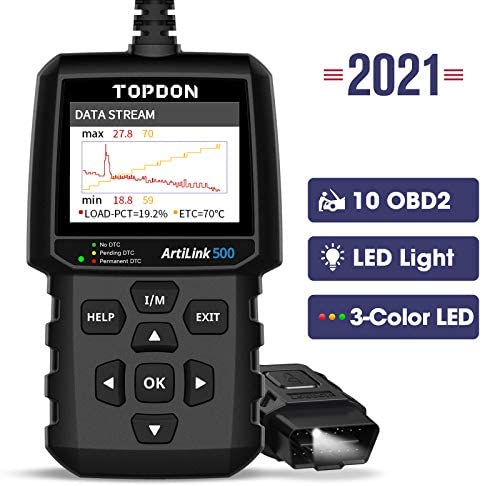 OBD2 Scanner TOPDON AL500 Car Code Reader Check Engine Light Diagnostic Tool with All OBD2 Functions product image