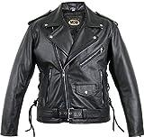 Motorrad Lederjacke Rocker Jacke (2XL)