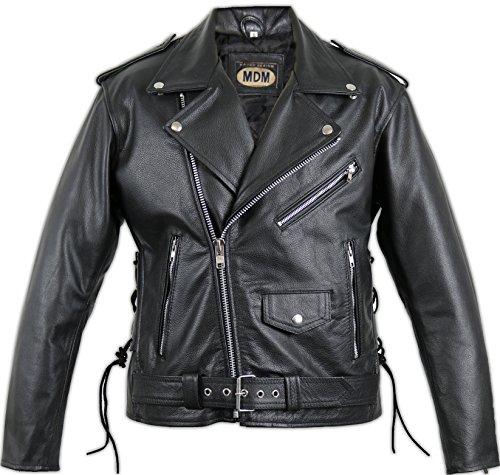 Motorrad Lederjacke Rocker Jacke (4XL)