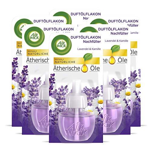 Air Wick Duftölflakon Nachfüller Lavendel & Kamille – Aromatischer Raumduft mit ätherischen Ölen – 6er Duftöl Set