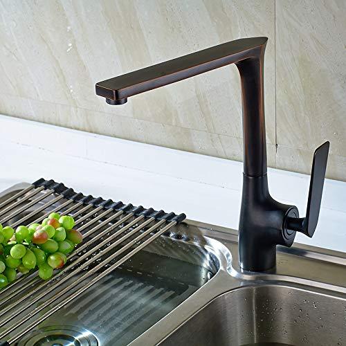 SJIUH Grifo de la Cocina,Grifo de Cocina de fundición Grifo de Agua fría y Caliente para Grifo de Agua de Cocina Grifo Grifo Mezclador Retro de 360 Grados, Orb