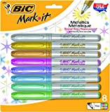 BIC Intensity Metallic Permanent Marker, Fine Point, Assorted Colors, 8-Count