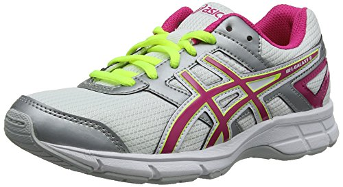 ASICS Gel-Galaxy 8 Gs, Unisex - Kinder Laufschuhe Training, Weiß (White/Hot Pink/Silver 120), 39.5 EU