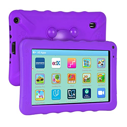 Xgody Kinder Tablets, Kids Edition Tablet 22,9 cm (9 Zoll) Display, elterliche Kontrolle, für Internet Cloud Klasse, Android 6.0, 16 GB, Quad Core, lila kindersichere Hülle