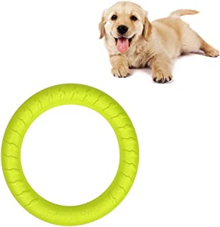 Dog Toys Ring Water Floating, Outdoor Fitness Flying Discs, Tug of War Interactive Training Ring for Dogs