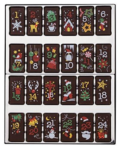 Weibler Confiserie Geschenkpackung Adventskalender Zartbitter 200 g