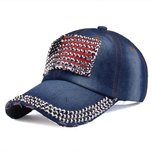 Gorra de Beisbol Gorra De Marca Gorra De Béisbol Mujeres Y Hombres Gorras De Mezclilla De Diamantes De Imitación Hip Hop Snapback Hat