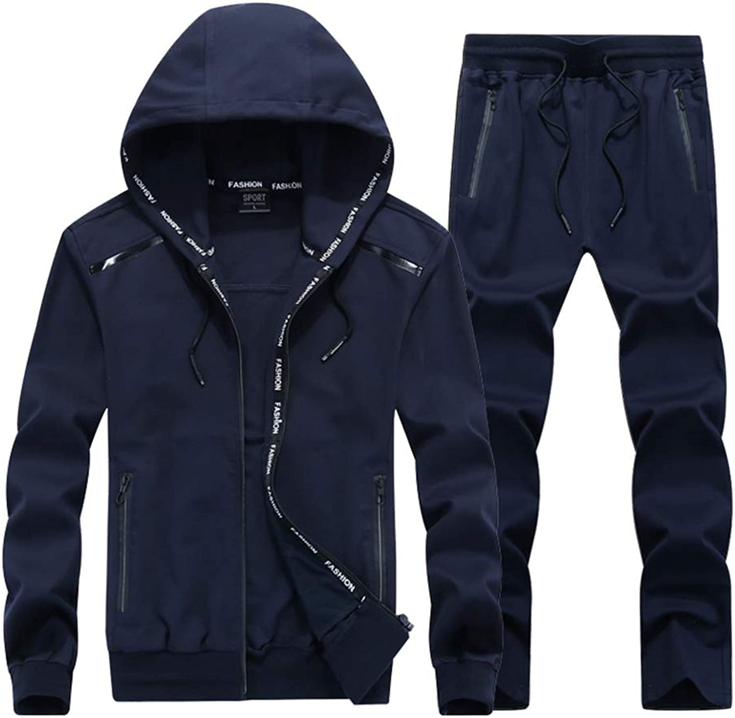 Coloing Men's Autumn Winter Hooded Windproof Running Sport Suit Large Size 8XL9XL Fitnes
