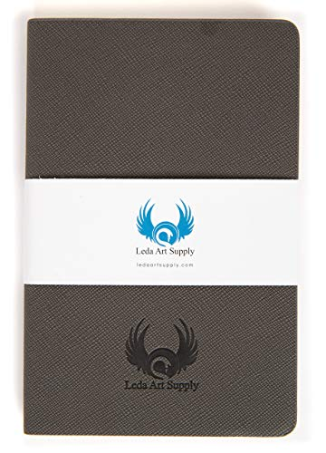 Leda Art Supply Perfect Small Pocket Stitched Sketchbook or Field Journal (3.5 x 5.5) with 160 Tear Resistant Pages for Professional Pencil, Pen, Ink, Drawing