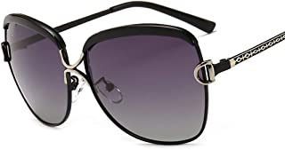 NW 1776 Ladies Sunscreen Beach Sunglasses (Black frame double gray sheet, Ashes)
