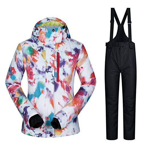 MEOBHI Skipak dames skipak winter hoge kwaliteit warme waterdichte winddichte kleding sneeuwbroek en jas ski- en snowboarpakken