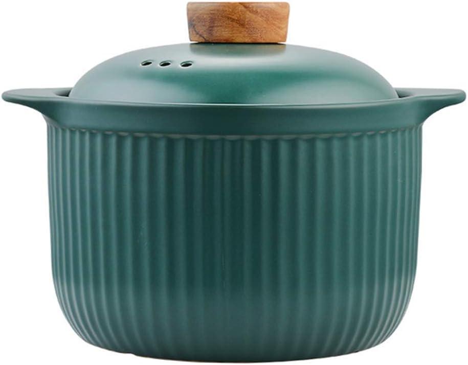 Multifunction Rice Cooker Japanese Eathern Casserole Donabe Hot Pot,Handmade Ceramic Casserole With Lid,Heat Resistant Earthenware Rice Pot Cooker,Not-stick Stockpot,Dolsot Pot,Stew Green 5
