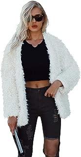 jessie Women Fluffy Fuzzy Faux Fur Coat Open Front Cardigan Jacket Coat Winter Outwear