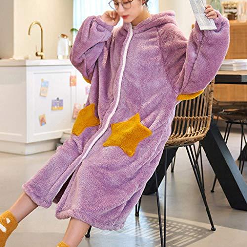 LXDWJ Manta Grande con Capucha para Mujer con Mangas Sudadera Pijamas de Felpa Manta con Capucha para Mujer (Color : Color2, Size : Small)