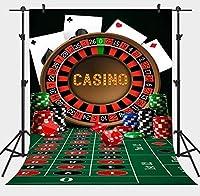 写真撮影のためのAPANカジノの背景5x7ftチップターンテーブルポーカーの背景写真スタジオブースの小道具